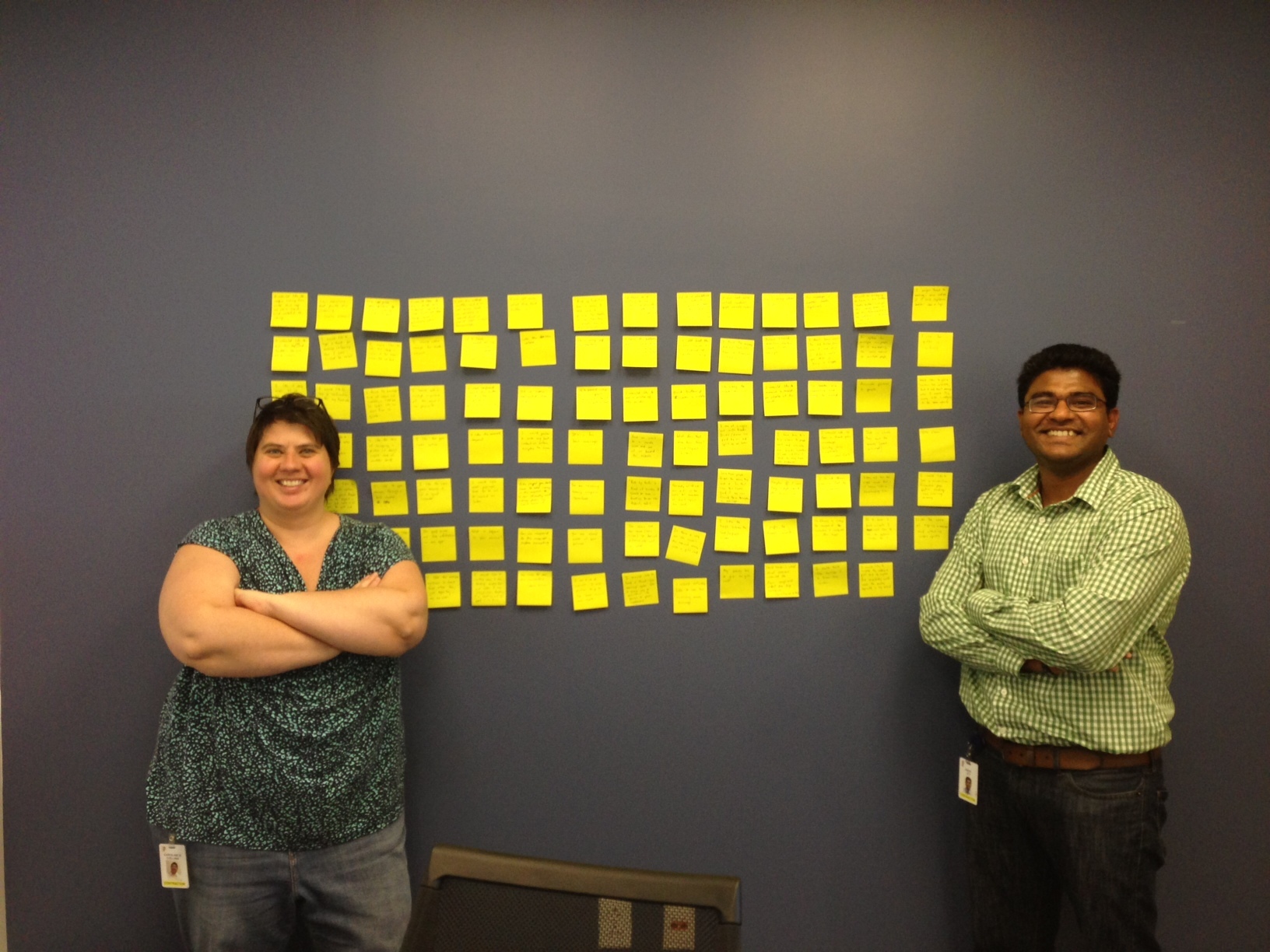 photo of a user test synthesis