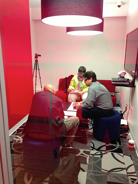 photo of a user interview and test session